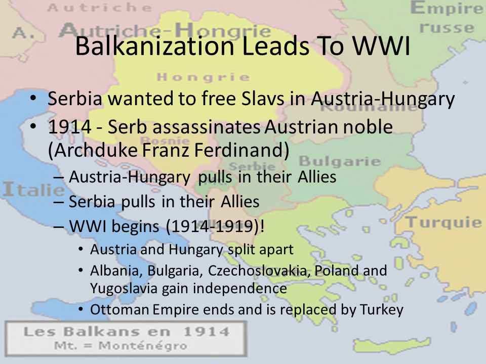 Balkanization Leads To WWI