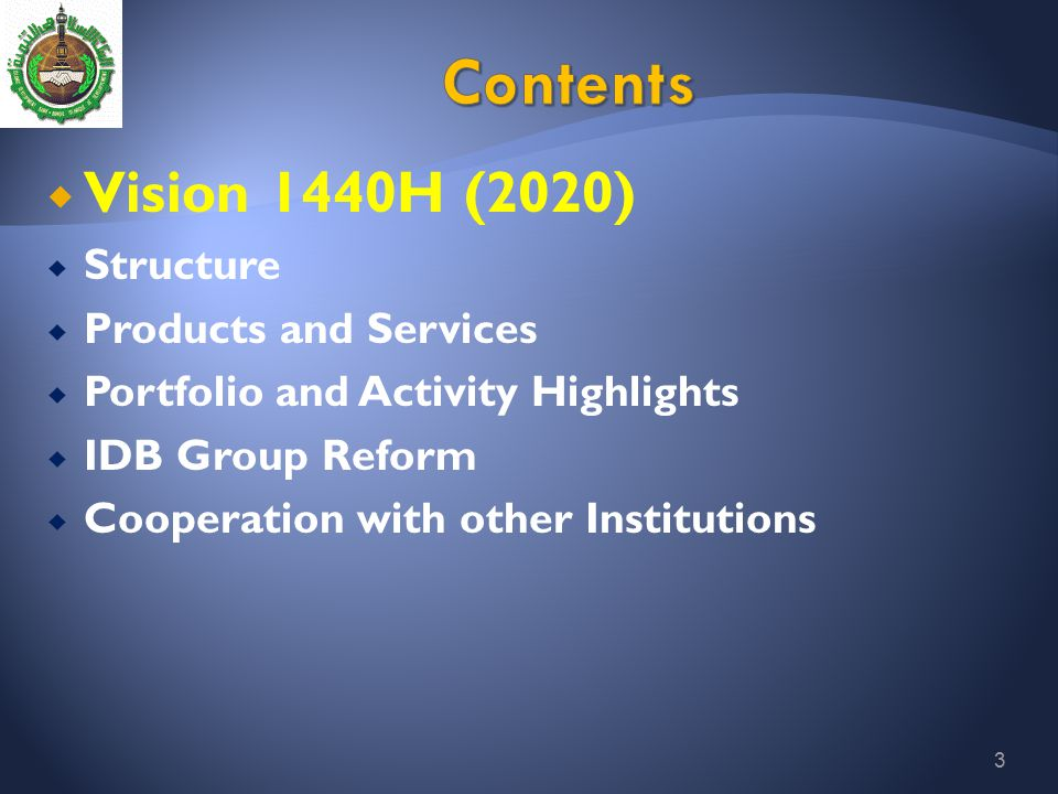Contents Vision 1440H (2020) Structure Products and Services