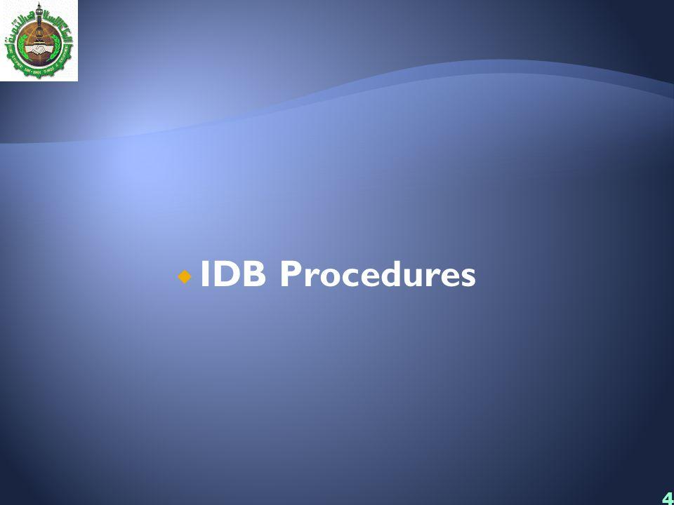 IDB Procedures 4444