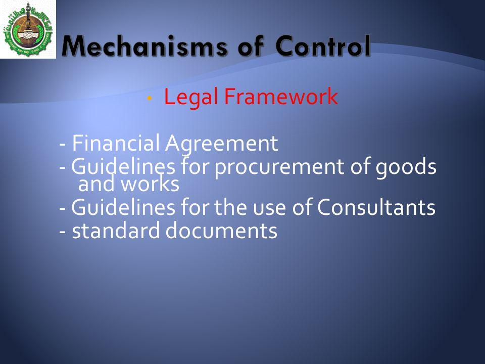 Mechanisms of Control Legal Framework - Financial Agreement