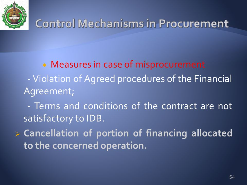 Control Mechanisms in Procurement