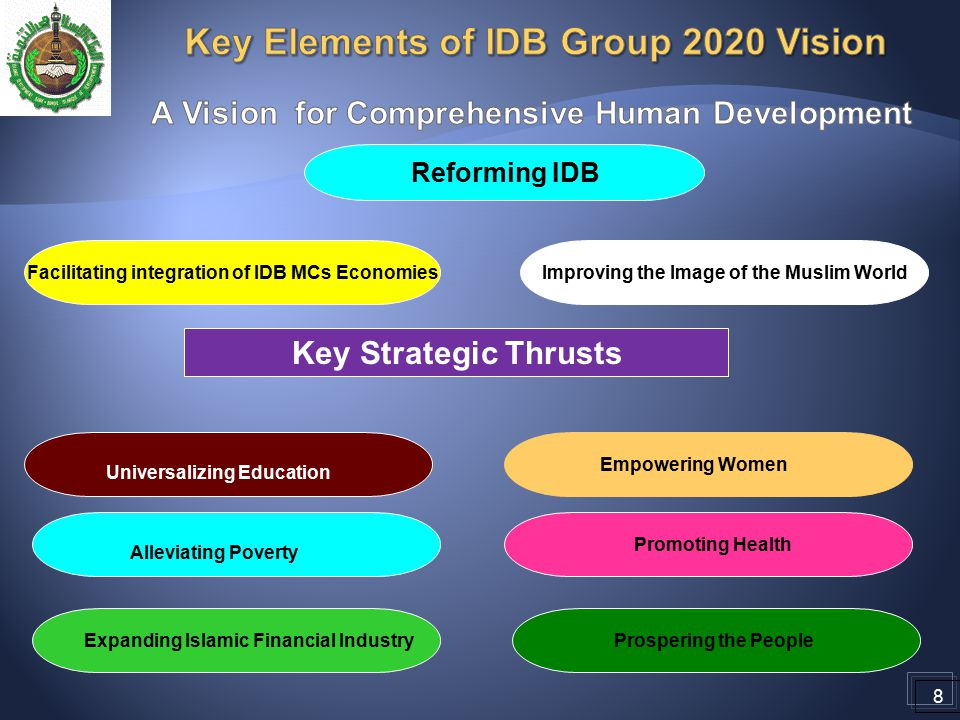 Key Elements of IDB Group 2020 Vision
