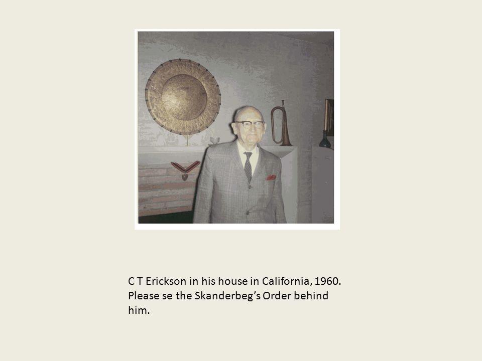 C T Erickson in his house in California, 1960