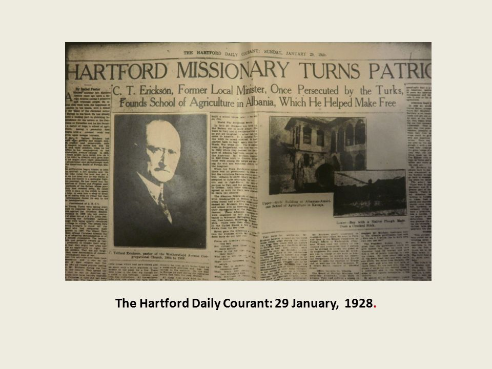 The Hartford Daily Courant: 29 January, 1928.