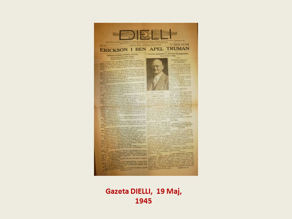 Gazeta DIELLI, 19 Maj, 1945