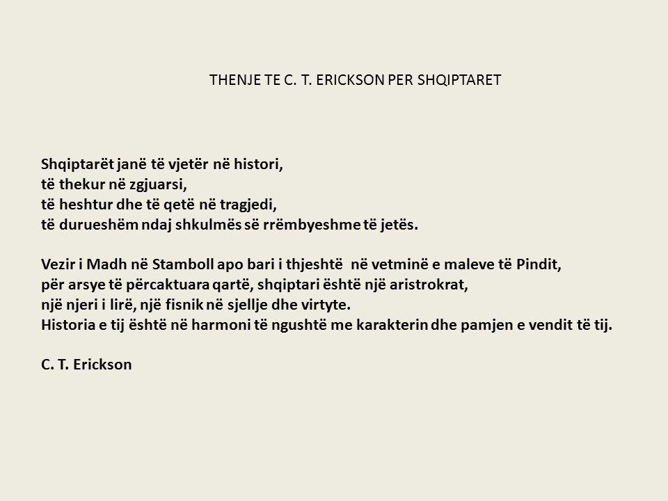 THENJE TE C. T. ERICKSON PER SHQIPTARET