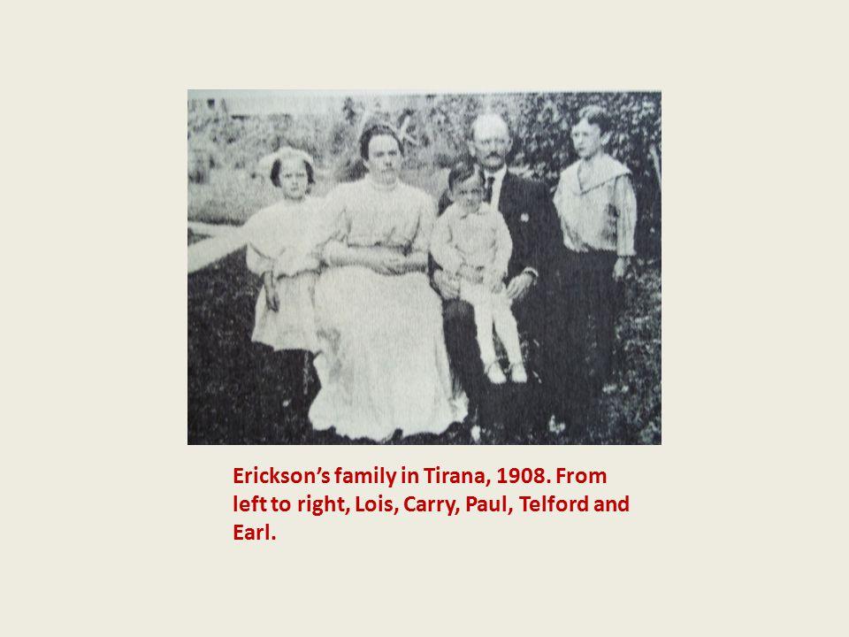 Erickson's family in Tirana, 1908