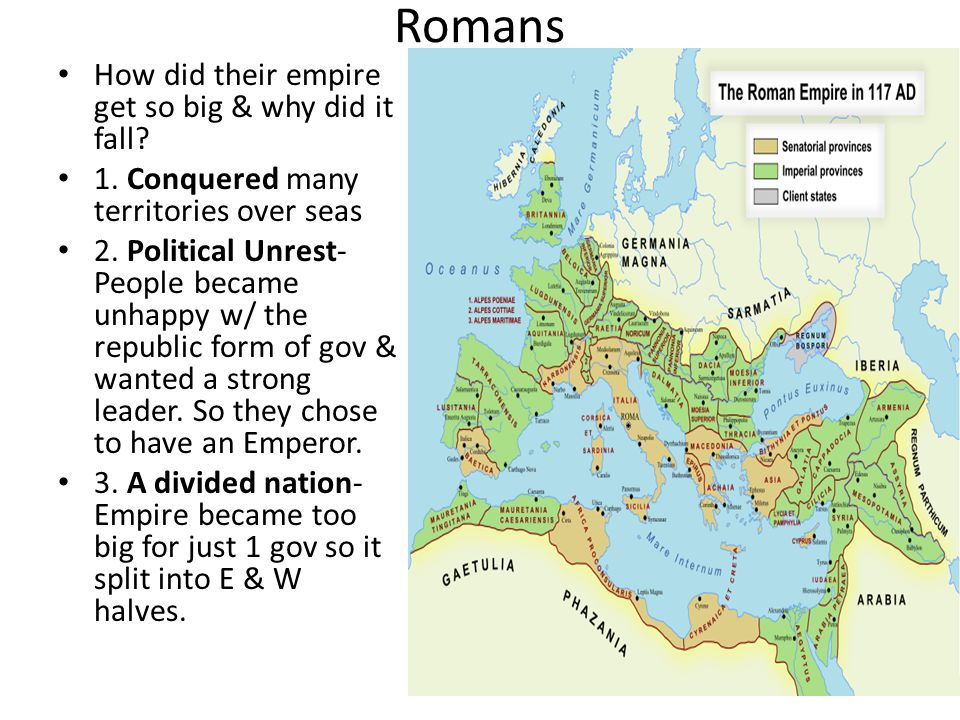 Romans How did their empire get so big & why did it fall