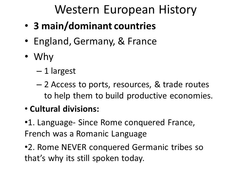 Western European History
