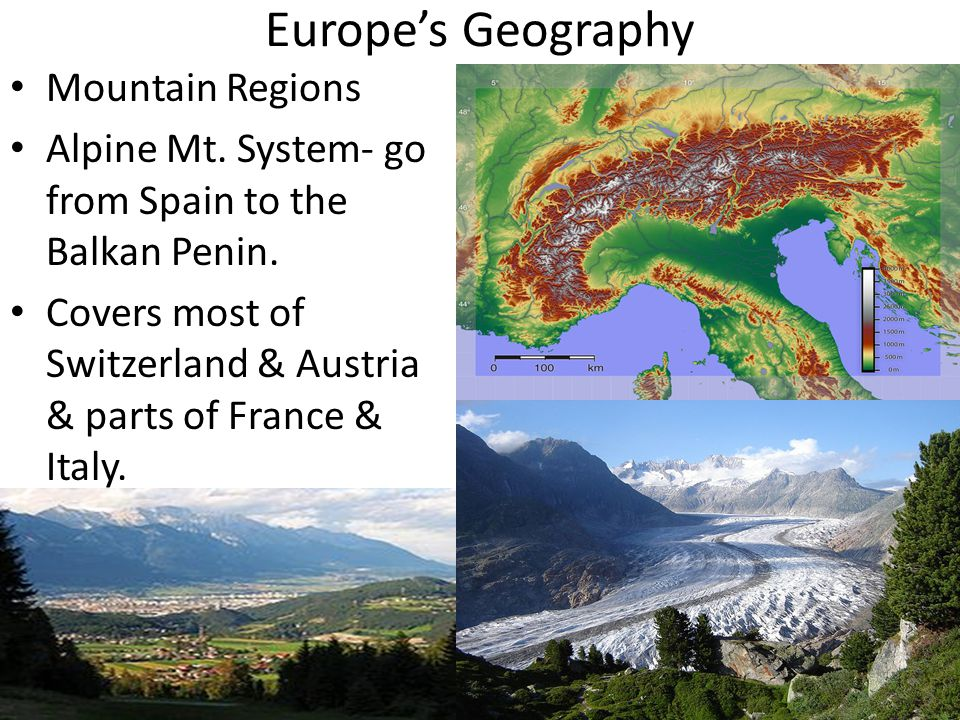 Europe's Geography Mountain Regions
