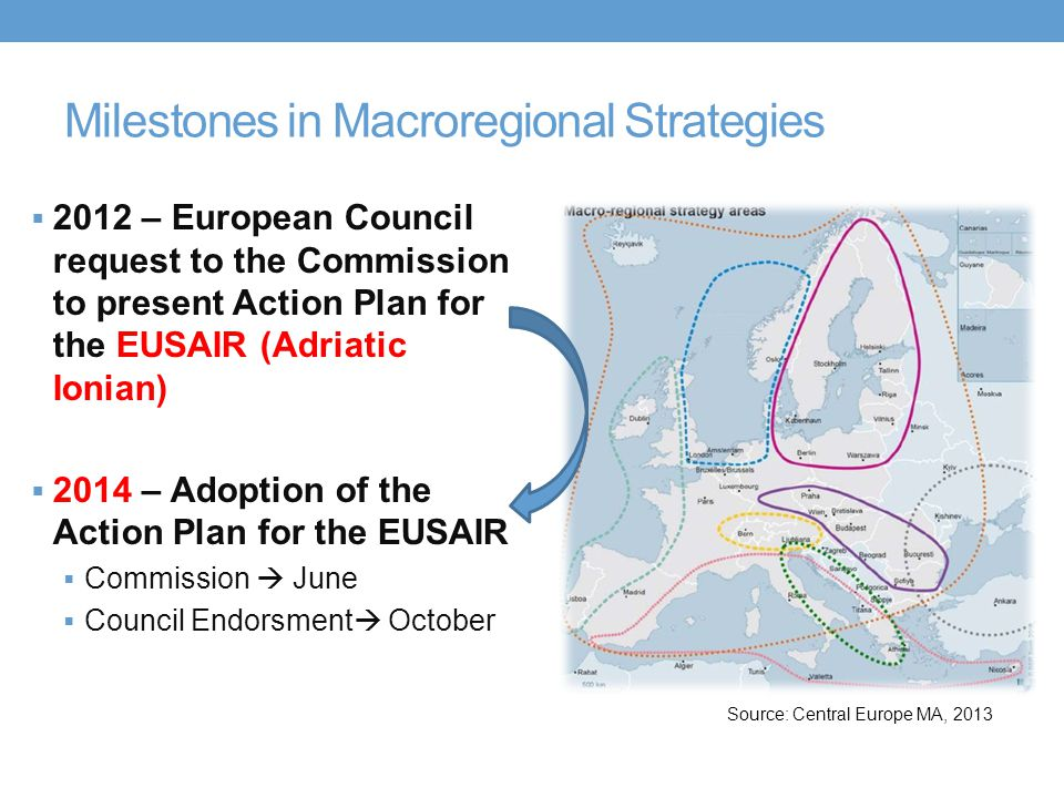 Milestones in Macroregional Strategies