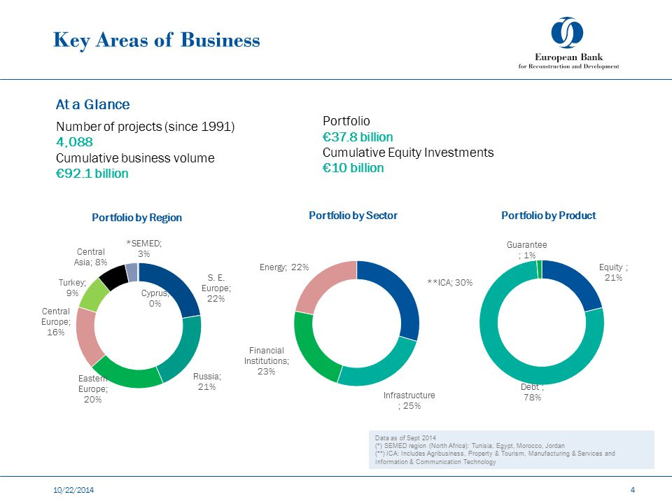 Key Areas of Business At a Glance Number of projects (since 1991)