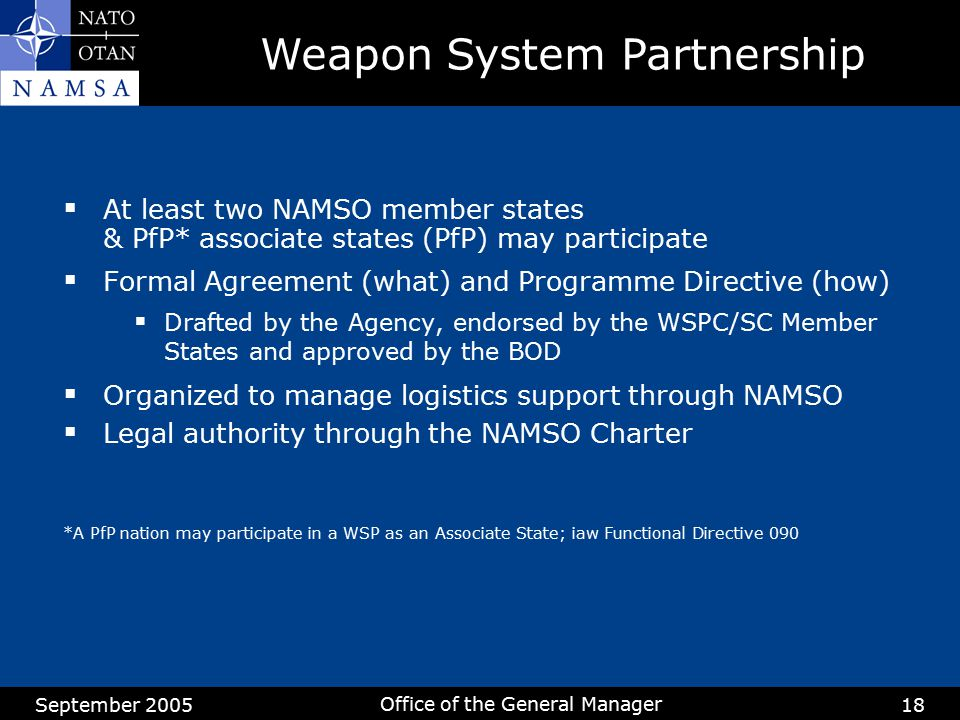 Weapon System Partnership