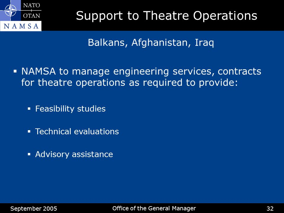 Support to Theatre Operations