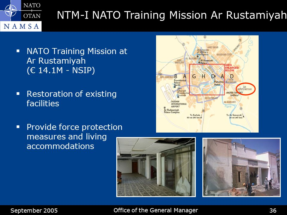 NTM-I NATO Training Mission Ar Rustamiyah