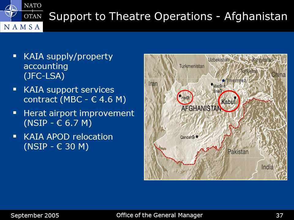 Support to Theatre Operations - Afghanistan