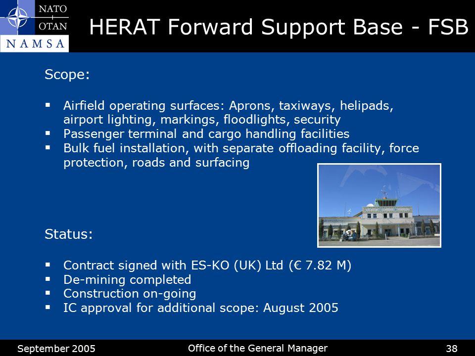 HERAT Forward Support Base - FSB