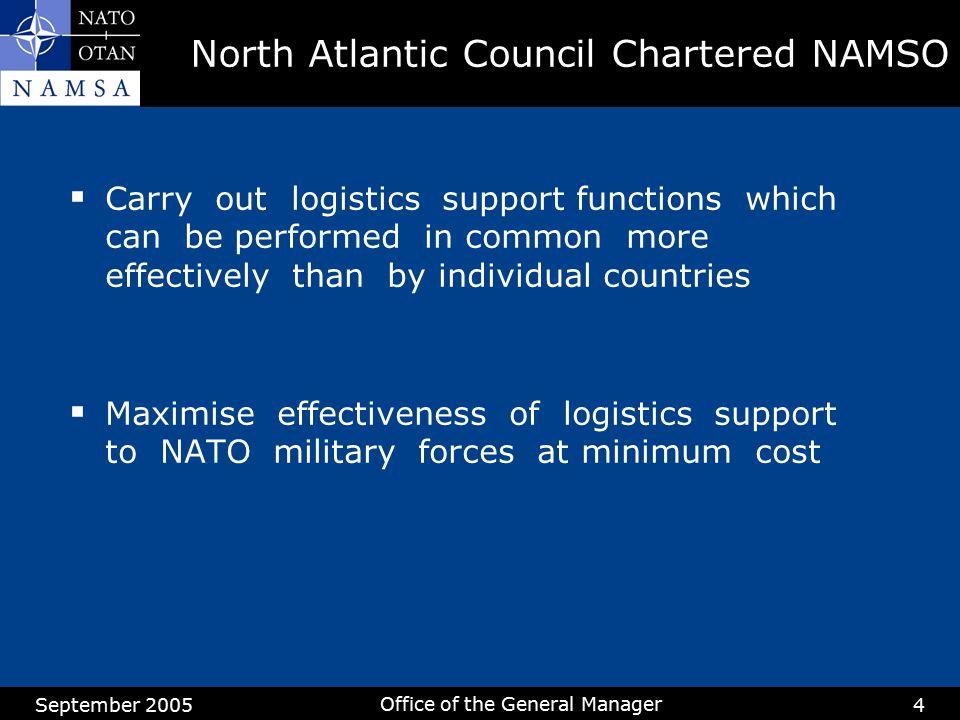 North Atlantic Council Chartered NAMSO