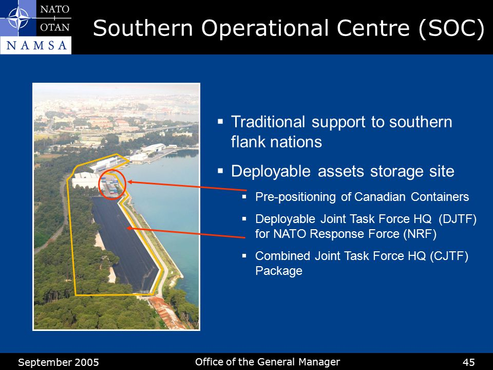 Southern Operational Centre (SOC)