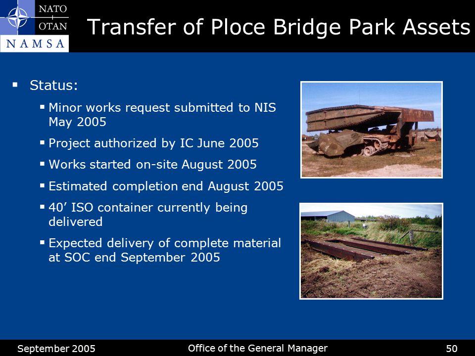 Transfer of Ploce Bridge Park Assets