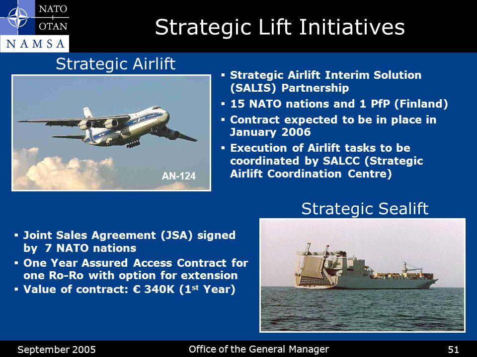 Strategic Lift Initiatives