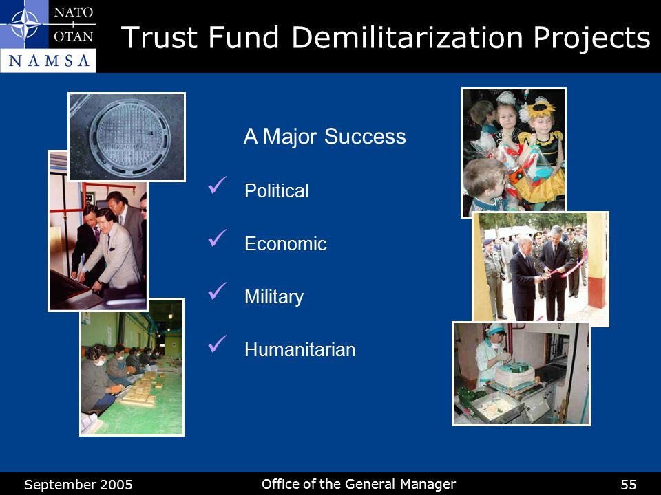 Trust Fund Demilitarization Projects