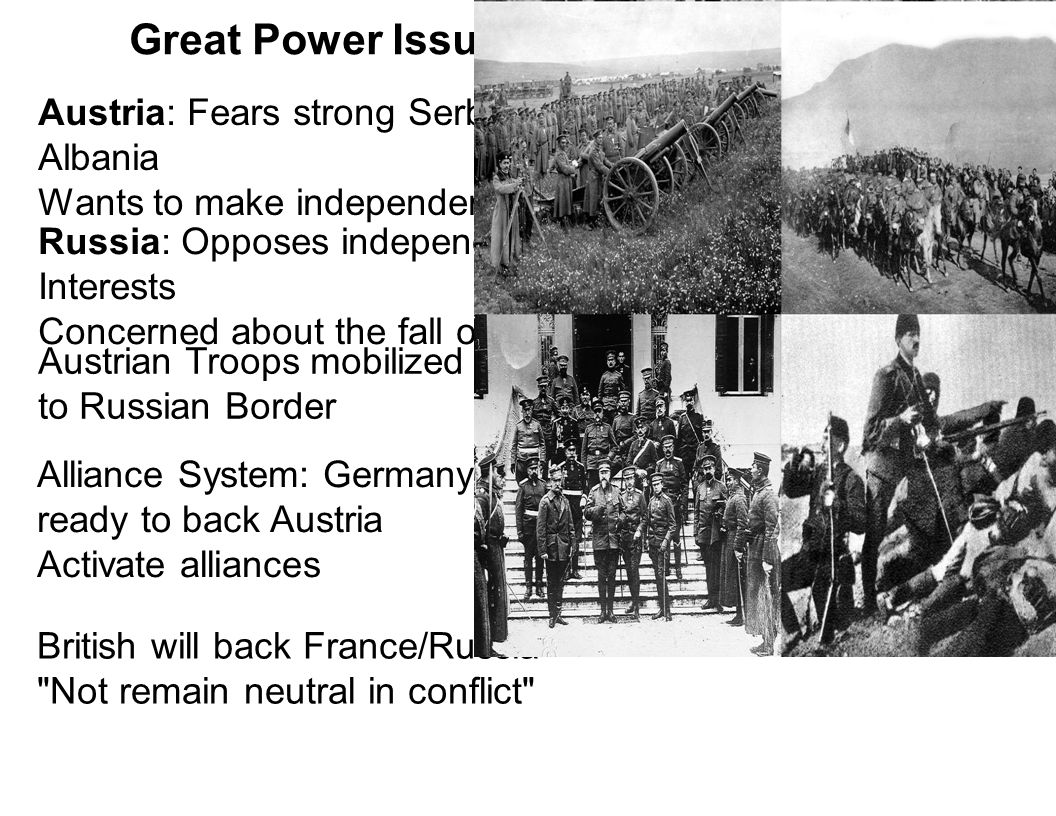 Great Power Issues of the First Balkan War