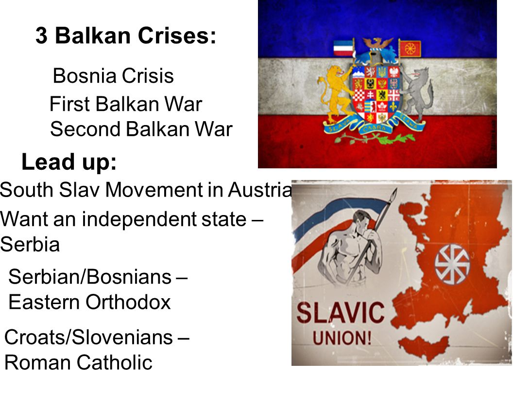 3 Balkan Crises: Lead up: Bosnia Crisis First Balkan War