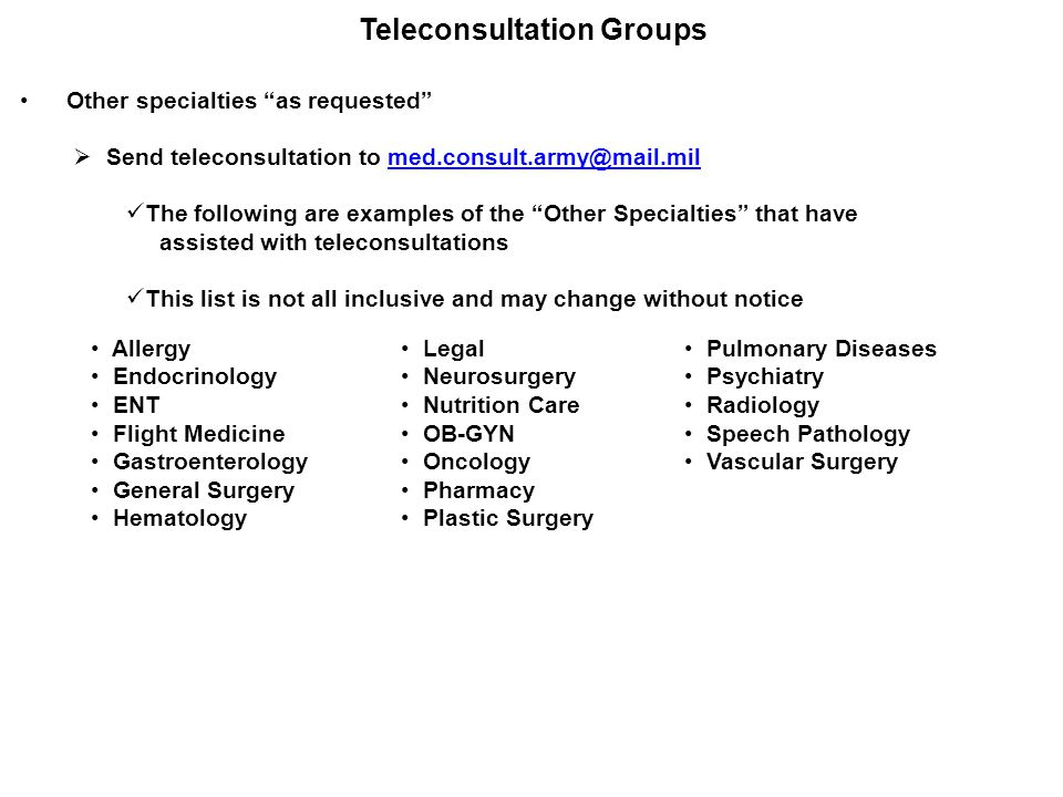 Teleconsultation Groups