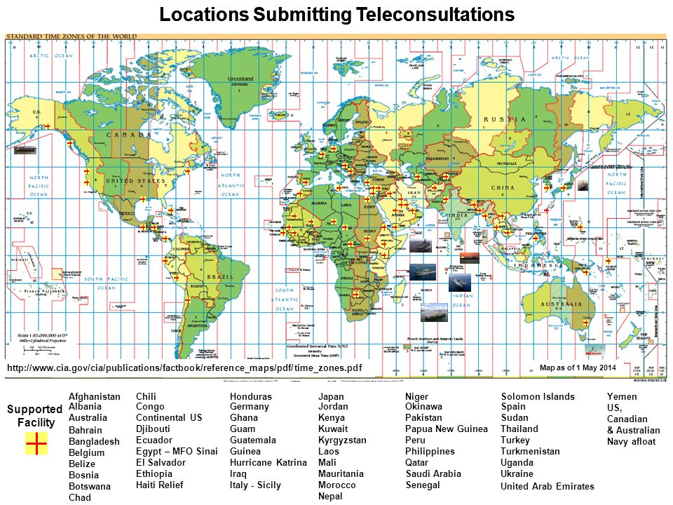 Locations Submitting Teleconsultations