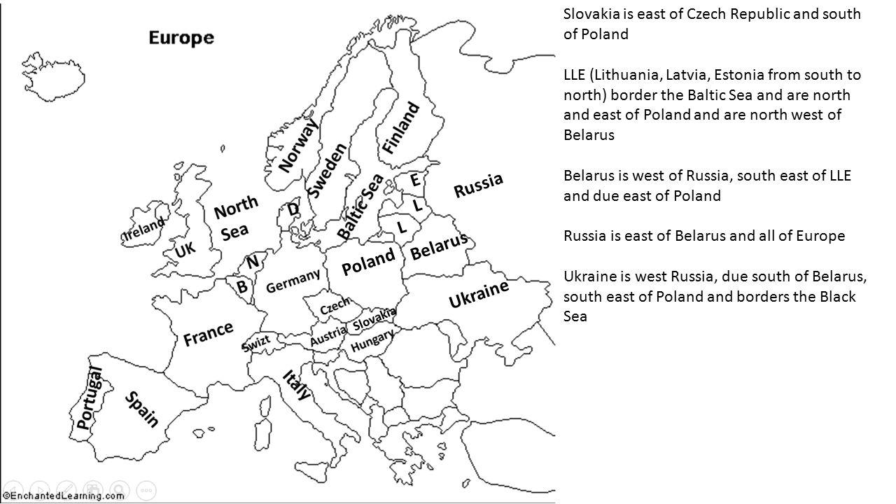 E Russia L L Belarus Poland Ukraine