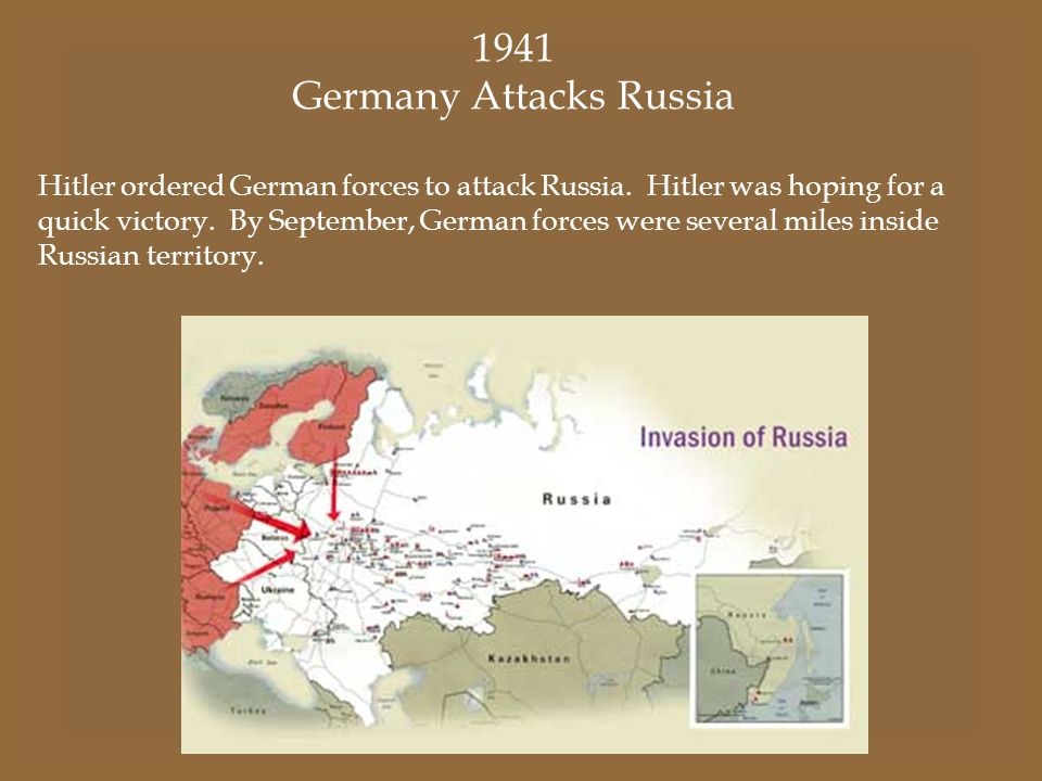 Germany Attacks Russia