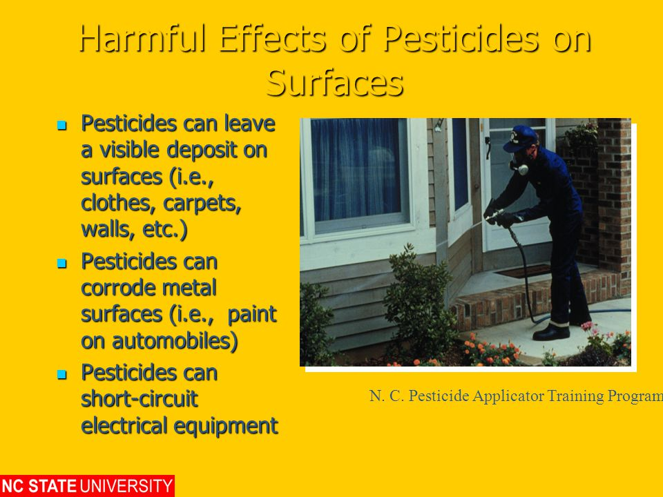 Harmful Effects of Pesticides on Surfaces