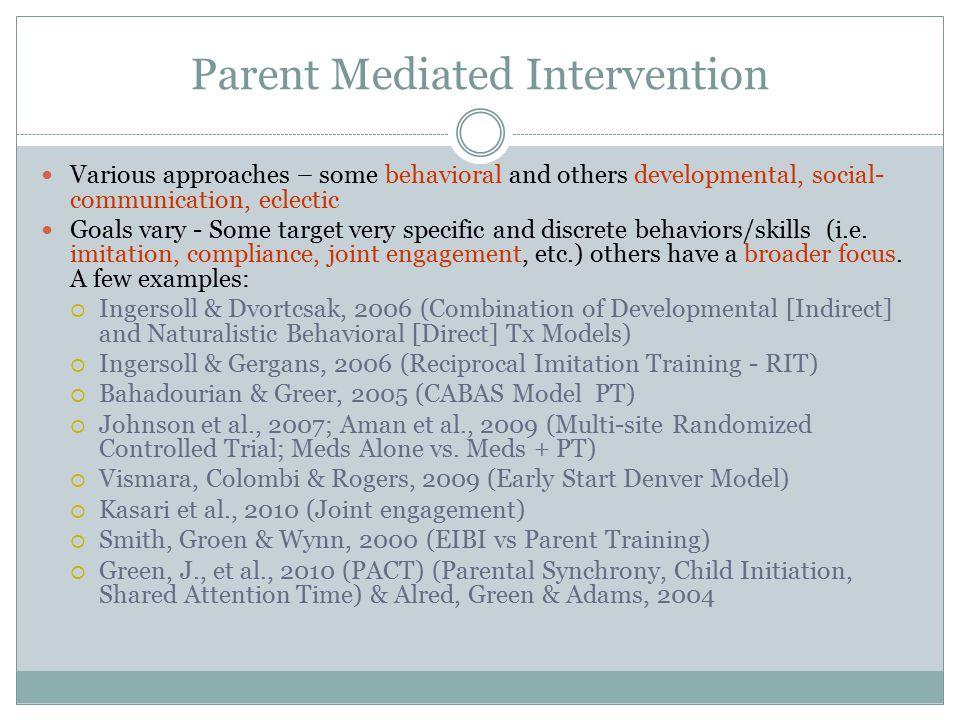 Parent Mediated Intervention