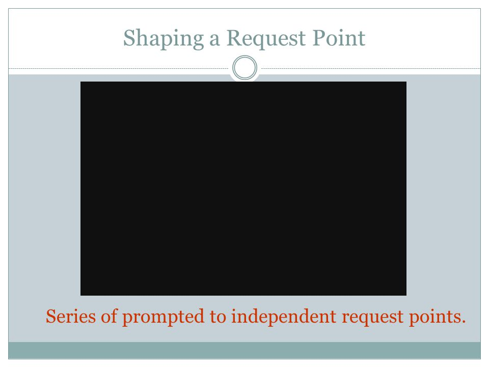 Shaping a Request Point