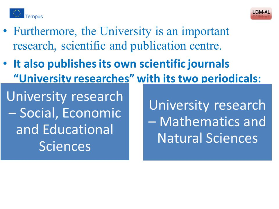 University research – Social, Economic and Educational Sciences