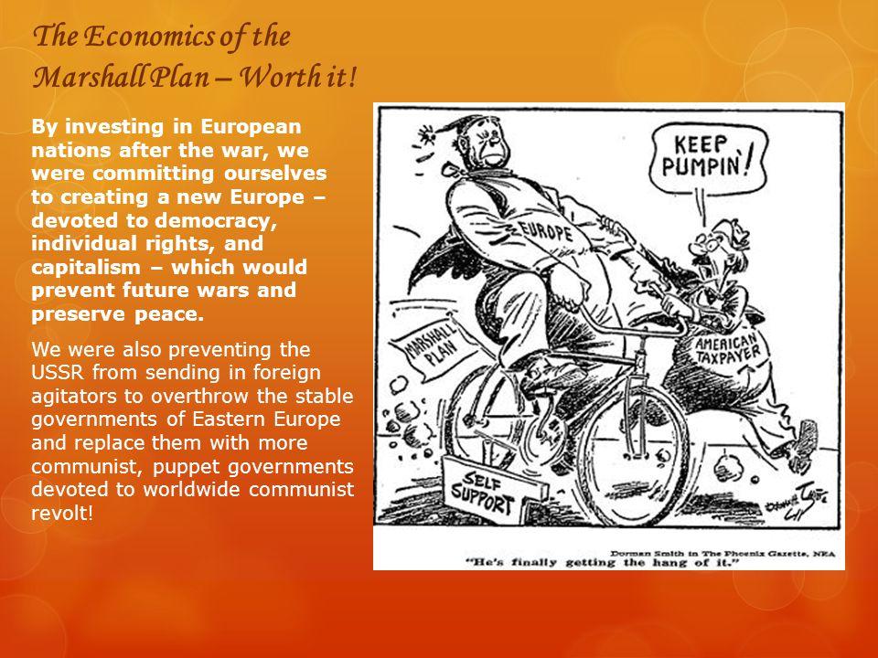 The Economics of the Marshall Plan – Worth it!