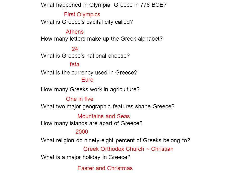 What happened in Olympia, Greece in 776 BCE