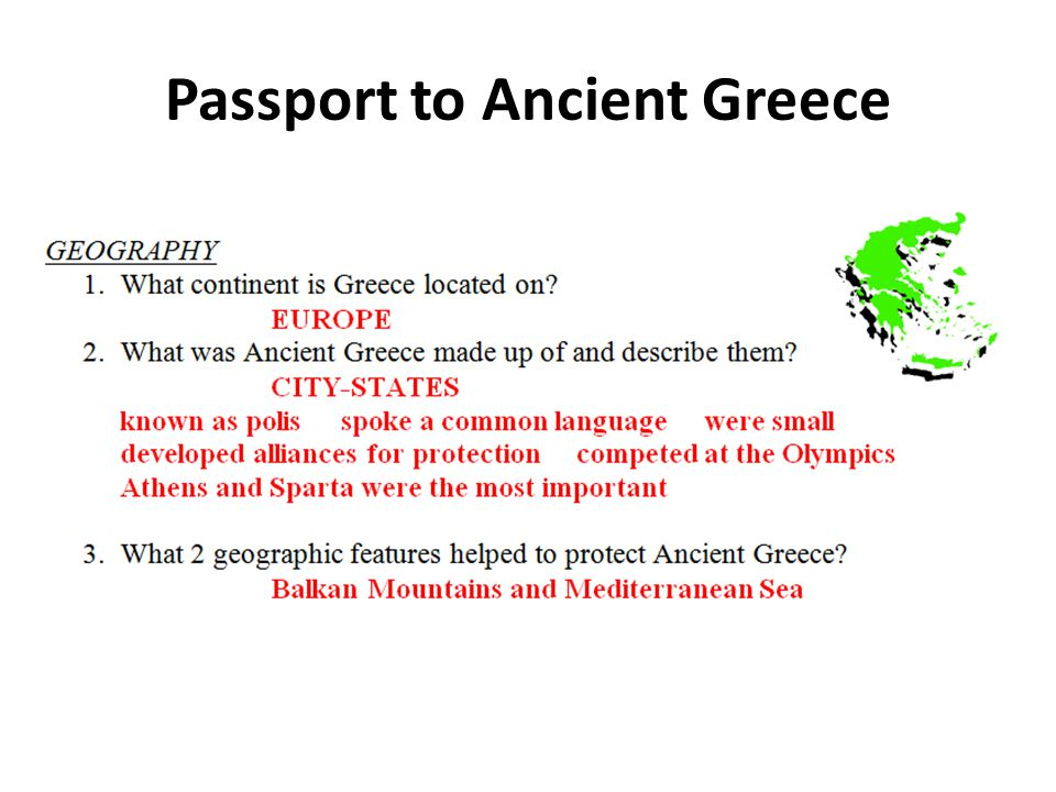 Passport to Ancient Greece