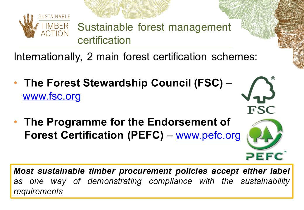 Sustainable forest management certification