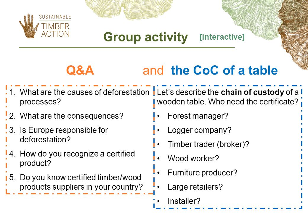 Q&A and the CoC of a table