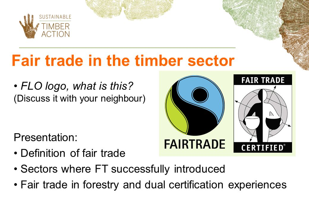 Fair trade in the timber sector