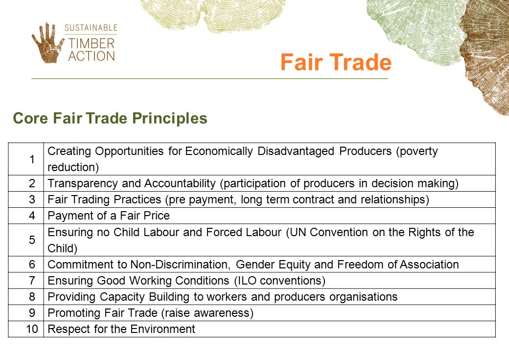 Fair Trade Core Fair Trade Principles 1