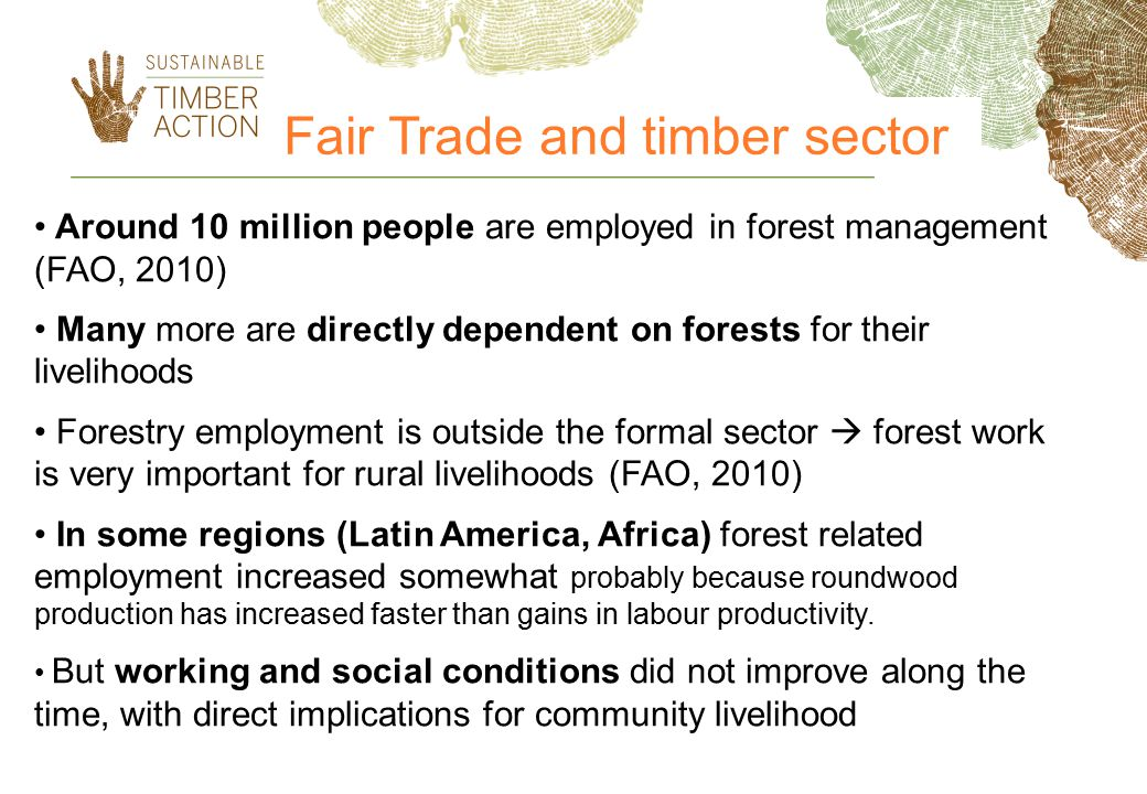 Fair Trade and timber sector