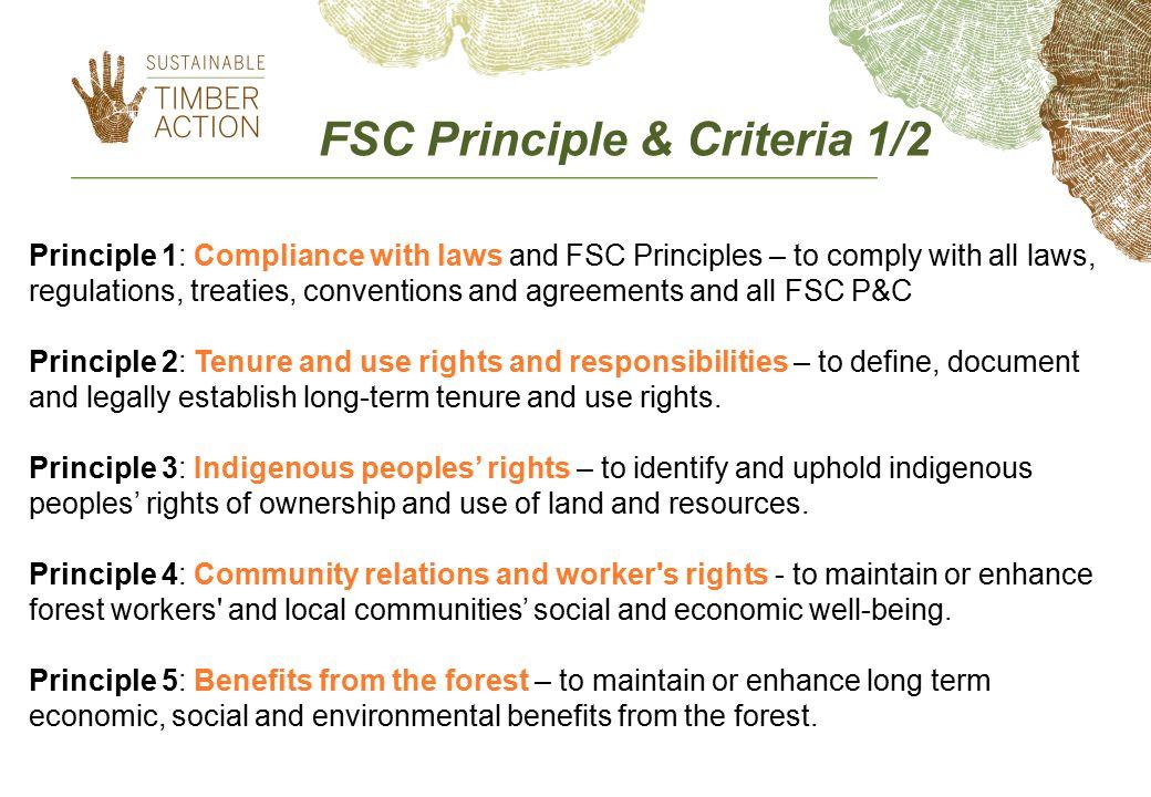 FSC Principle & Criteria 1/2