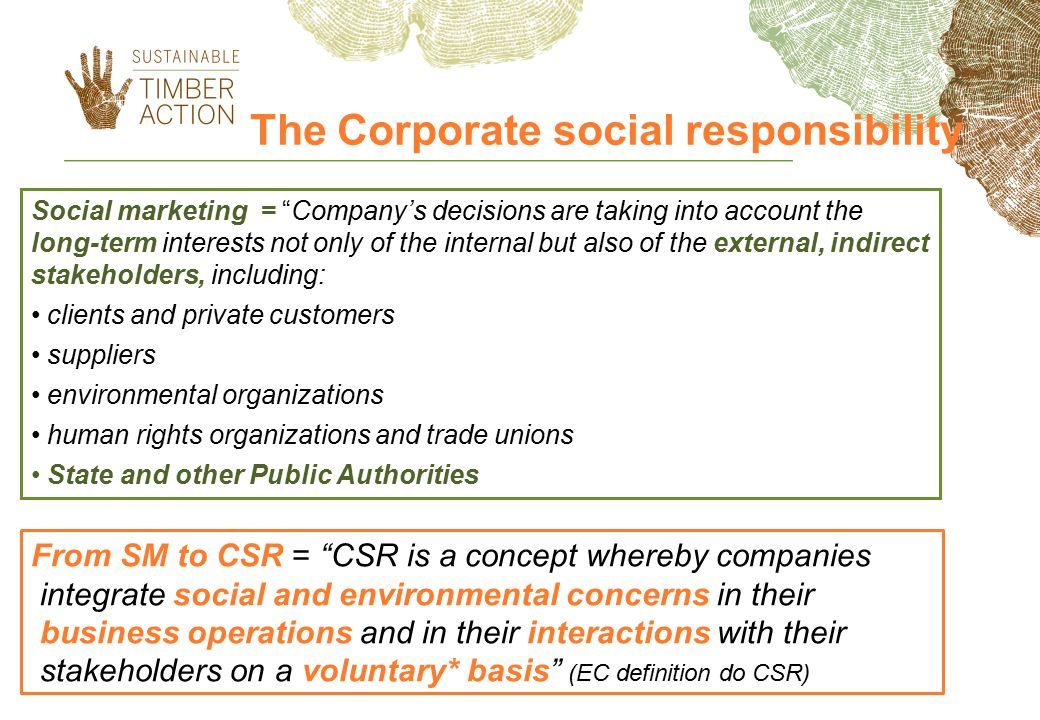 The Corporate social responsibility
