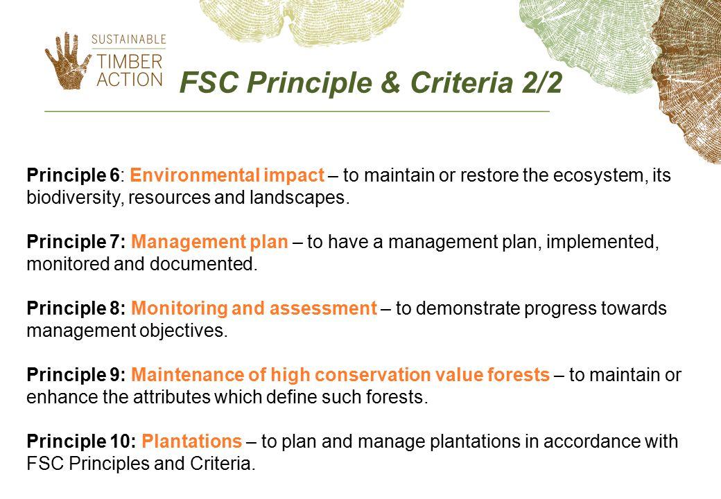 FSC Principle & Criteria 2/2