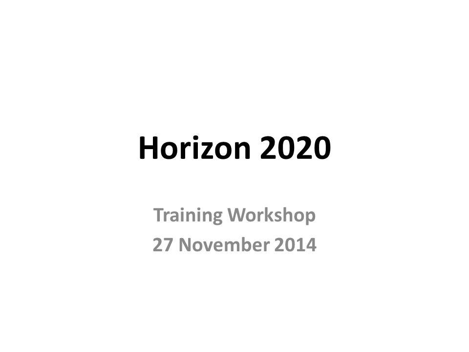 Training Workshop 27 November 2014