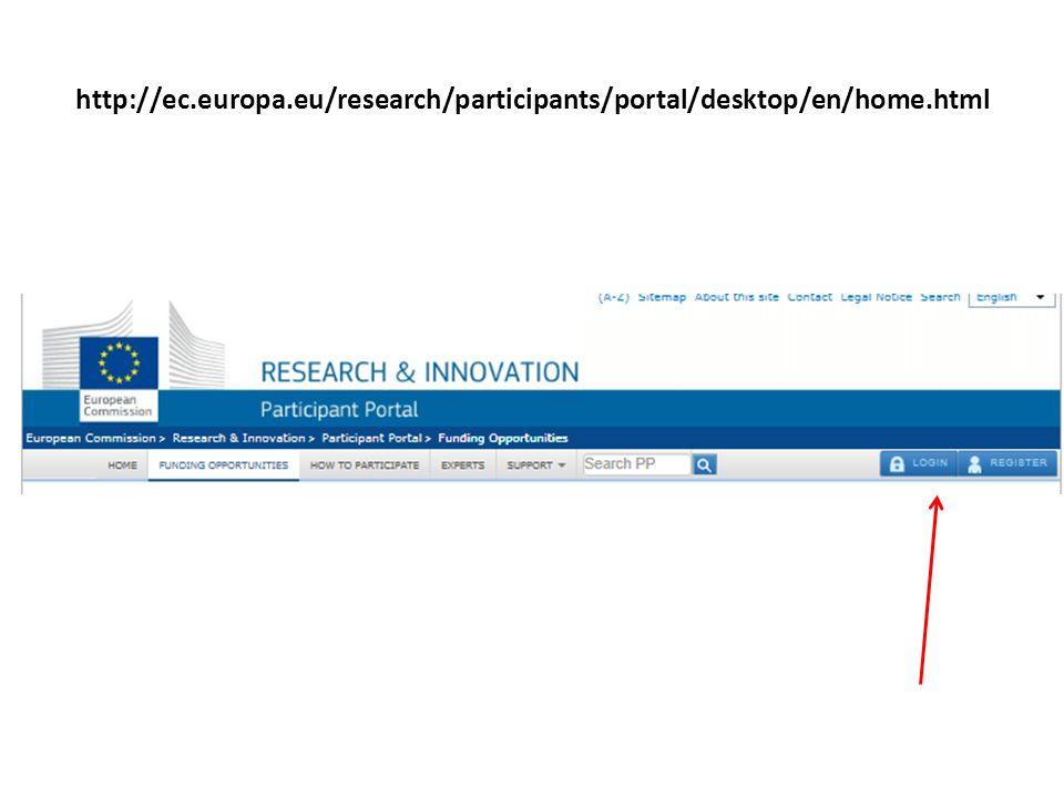 http://ec. europa. eu/research/participants/portal/desktop/en/home