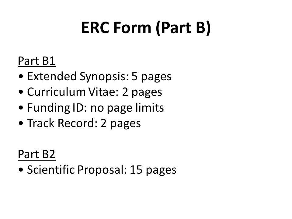 ERC Form (Part B)